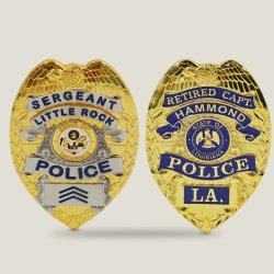 Metal personalizado personalizada monograma da Polícia Militar, emblema de metal com o pino de segurança