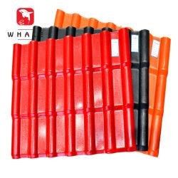 Mattonelle di tetto poco costose a prova di fuoco resistenti all'intemperie della resina sintetica del PVC asa
