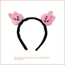 Kawaii Pink Bunny Hairband Grosso Decoração de cabelo