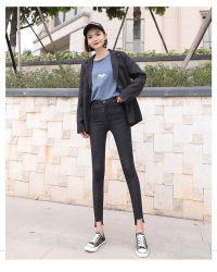Het hete Denim Jean Small Feet Jean van de Jeans van de Manier van de Verkoop Nieuwe Magere voor Meisje en Wowen
