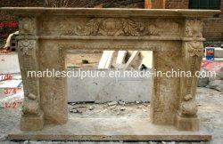 クラシックスタイルの石の彫刻カスタムマンテル大理石の暖炉 (SYMF-045)