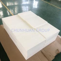Plano blanco moldeado de PTFE virgen 100% de la hoja de la junta de plástico