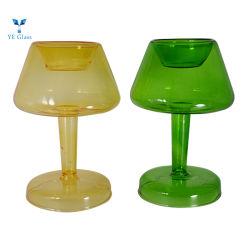明確なホウケイ酸塩ガラスのドームの蝋燭ホールダーの現代簡単なガラスロウソク
