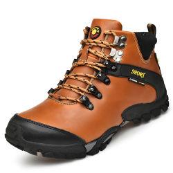 Novo Estilo de homens High-Top Couro Casual caminhadas com sapatos personalizados (HY19-888)