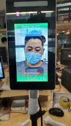 Detección de temperatura de reconocimiento facial de la máquina de la puerta de acceso biométrico Android Pantalla de control