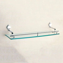 6mm 욕실 벽 코너 삼각형 투명 유리 선반 홀더 샴푸 홀더