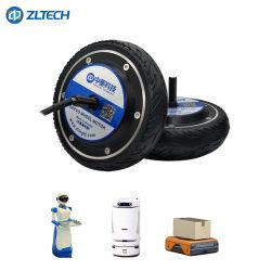 Высокая точность 6.5inch 250W 24V 36V 48В постоянного тока 120кг нагрузки 600 об/мин бесщеточным электрическим сервомотором ступицы колеса с помощью дополнительных кодер для Smart вилочного погрузчика