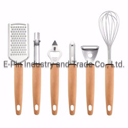 주방 도구 세트 7개 - 주방 도구 필수 가젯 - 취사도구 치즈 그레이터, 2x필러, 거품기, 코러, 개폐기 및 홀더, 주방