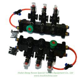 Bloque de control neumático Joye de plástico para el combustible petroleros con la mirilla para el control de la directiva de abrir y cerrar