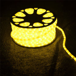 クリスマスの照明の祝祭の装飾のための2本のワイヤーLEDロープライト