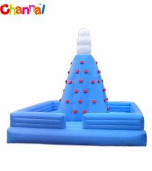 Jogos de desporto no interior da parede de escalada em rocha inflável com deslize para venda