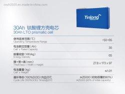 auf Lager! Yinlong Lto 2.3V 30ah lange Kreis-Batterie für Stromversorgung