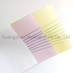 55GSM 3つの層プリンターPOSのための連続的なCarbonless印刷紙