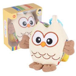 Libro de telas de educación al por mayor Plush Lovely Toy Owl Story Book Juguete de bebé de la muñeca de la tela