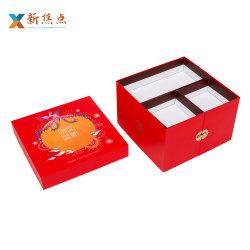 Fabricant de l'emballage alimentaire d'impression personnalisée Mooncake Cup Cake Boîte de Papier de cadeau