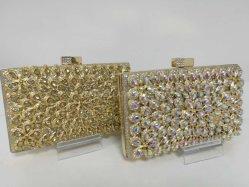 Fabricante de clase alta de la bolsa de nupcial del embrague de la tarde el diseñador de moda bolsa de parte de cristal hecho a mano Bolso Bolso de mano (FE1020)