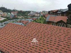 인도네시아 태국 베트남 건축 자재 아스팔트 지붕재 타일은 내구성이 뛰어납니다 단일 레이어 아스팔트 지붕 샬링 설치 용이