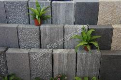 自然な灰色のGneisの花こう岩の庭の石の柵