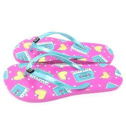 Nieuwe bedrukte Summer EVA Women Beach Slippers Flip Flops