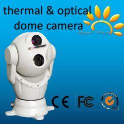 La seguridad de Vigilancia Digital para montaje en vehículos del Sensor de doble cámara domo térmico coche Impermeable IP66.