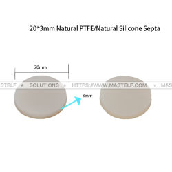 Mastelfのテフロン隔壁、20X3mm自然なPTFE/Naturalのシリコーンの隔壁