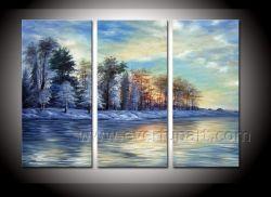 3 Painéis 100% Paisagem moderna artesanais pintura a óleo para a decoração da casa (LA3-124)