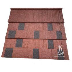 Bond Tipo de arquitetura de materiais de cobertura de telhado de aço revestido a pedra cor Telha House