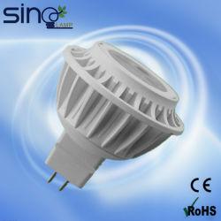 مصباح مصباح مصباح مصباح الإضاءة الموضعية LED بجهد 12 فولت MR16 بقدرة 3 واط طراز SMD2835، كوب خفيف