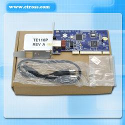 Te110p 1port E1/T1, RNIS PRI de la carte PCI ou PCI-E Carte, astérisque Carte numérique Support de carte de téléphonie VoIP SS7 Ippbx Centre d'appel VoIP Elastix Trixbox