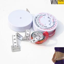 Professional/1.5m de Plastic Gift Van uitstekende kwaliteit van de Calculator van het Meetlint BMI 60inch hart-Gevormde Medische Promotie met Uw Embleem