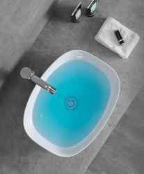 Sairi nouvelle salle de bains de style Art ovale unique bassin de la conception de Morden Matt Color Wash marché populaire du bassin de l'Allemagne