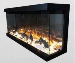 Hot Sale conduit Simulation 3 côté avec chauffage/Foyer électrique sans chauffage