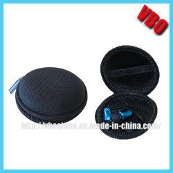 regalo de promoción más barata de logotipo personalizado Hard Shell Zipper Auricular EVA Caso