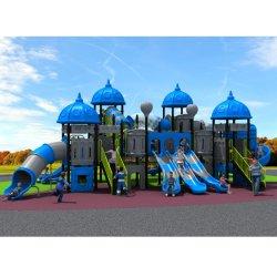 Terrain de jeux en plastique commerciaux Fonds pour les enfants du Château de la ville Wk-A201218b