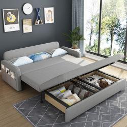 Hyc-Sf10c Foshan Hersteller-Gewebeins-Art-Schnittsofa-Bett faltbar