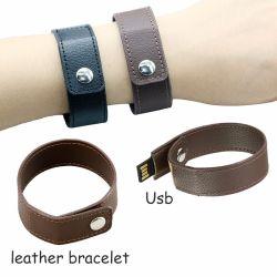 USB istantaneo del braccialetto del USB 16g 32g della fascia di manopola del cuoio dell'azionamento della penna dell'azionamento 64G dell'istantaneo di piena capacità