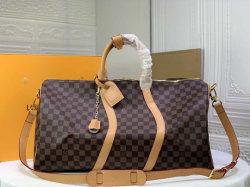 포커 프린트 가죽 더플 백 패션 핸드백 유명한 브랜드 럭셔리 모노그램 여행 가방