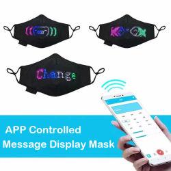 LED de Linli APP controlada máscara facial, máscara de LED, la música de Navidad de parte de la luz de Halloween hasta APP parte de la máscara facial Digital