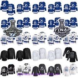 2020 2021 Lightning de Tampa Bay personnalisé de gros de la série mondiale de la coupe Stanley classique d'hiver finale du championnat éliminatoires Champion Coupe de gardien de but de hockey de Patch Jersey