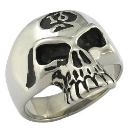 Crâne en acier inoxydable 316L ANNEAU DE BIJOUX