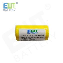 O EWT tampo plano marca NiMH de alta potência Ni Mh 750mAh 4.8V a AAA Ni-MH recarregável Bateria de telefone sem fio de substituição