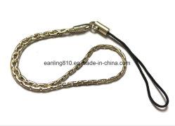 Pulseira de mão corda de tracção com corrente de metal para uma unidade flash USB e um telemóvel