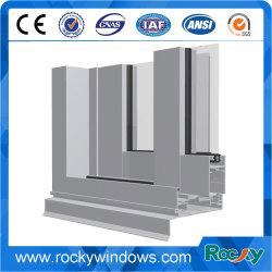 Rocky marco de la ventana de aluminio de tamaño estándar de la extrusión de aluminio de grano de madera