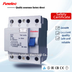 4p tipo AC Disjuntor elétrico de Corrente Residual/30mA