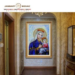 De gemengde Kleur voor de Muurschildering van het Mozaïek van het Glas betegelt Onze Tegel van het Patroon van het Mozaïek van de Muurschildering van de Kunst van de Dame en van de Zoon Decoratieve voor Huis