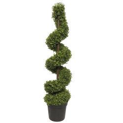 UV Topiary artificial árbol ciprés en el exterior de Bush de cedro árbol espiral de pino