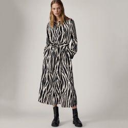 إليجاننت لوكسور أزياء زيبرا بسيطة - ستريب أوفيس تي شيرت اللباس ل السيدات