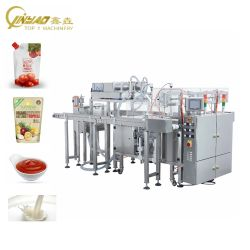 Máquina de embalaje automático de doble carril con el relleno de mantequilla de sellado de jugo de agua líquida la salsa de tomate aceite Gel