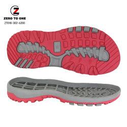 Venta caliente reciclar la materia prima de TPR sandalias de goma de suela de zapatilla de la playa de zapatos de diapositiva única