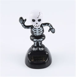 При сотрясении солнечной энергии солнечного кукла головки блока цилиндров поворотной Ghost Car оформление мультфильм Car кукла Car Хэллоуин подарок Лучшие продажи в подарок